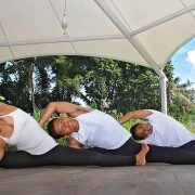 Pradnya and 2 boys yoga