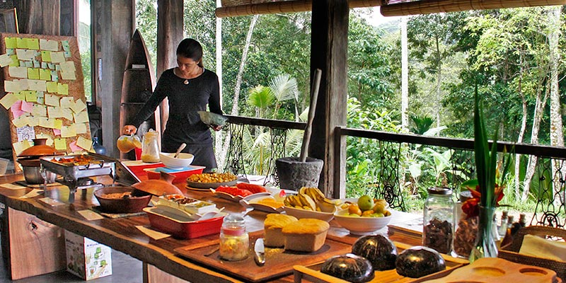 Bali Silent Retreat - Garden to table food at the lodge