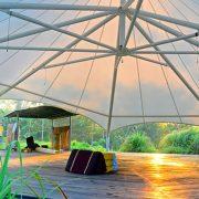 Bali Silent Retreat Octagon Tend/Bale