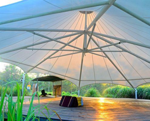 Bali Silent Retreat Octagon tend