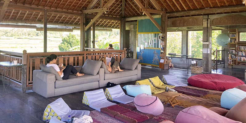 Bali Silent Retreat - The Lodge Level 3 - Dining and hanging out space