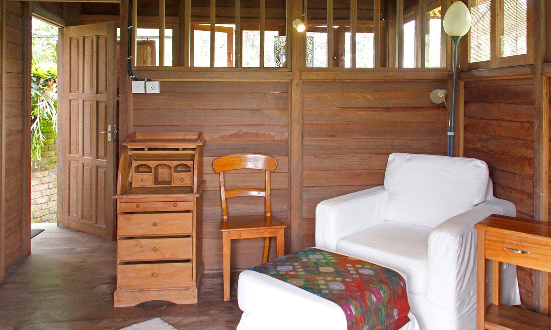 Bali Silent Retreat Deluxe Bungalow interior