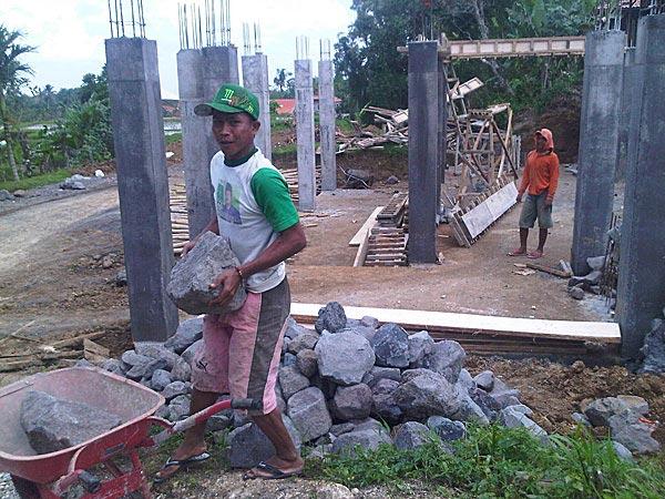 Columns for kitchen