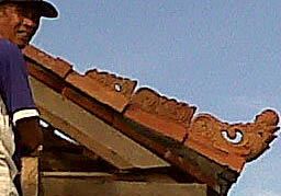 Balinese roof touch