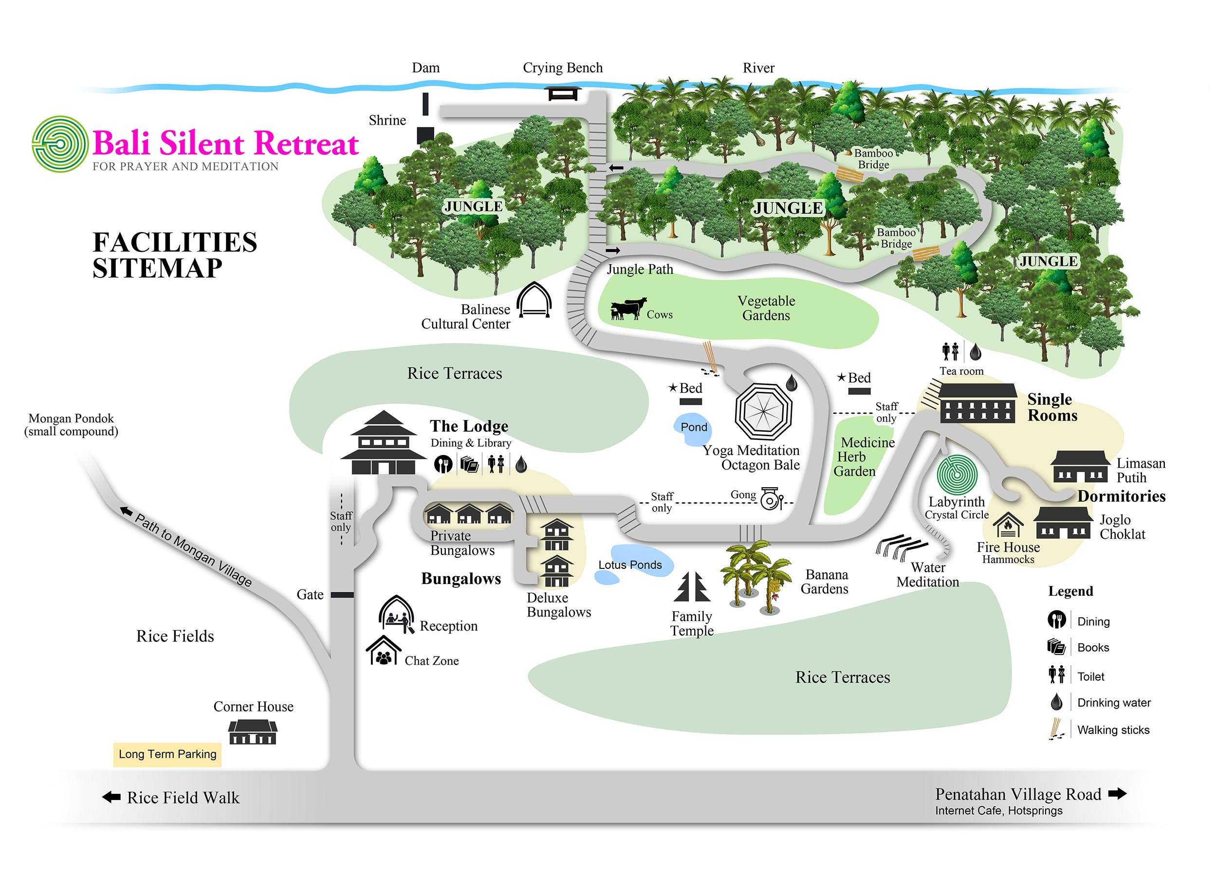 Bali Silent Retreat Facilities sitemap
