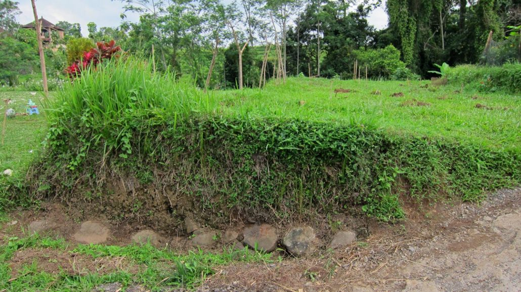 Original foundation stones from the original ashram in 1487, found by the garden crew in June 2012.
