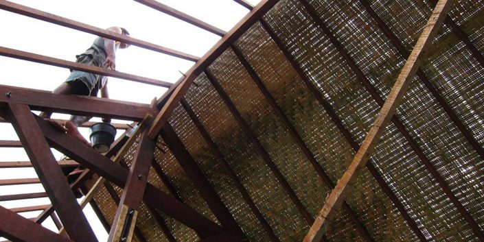 Single Sleeping Room Lodge – the roof begins.