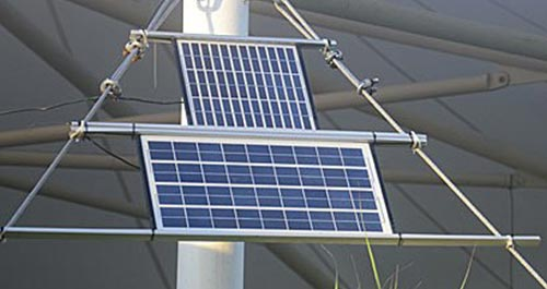 Solar panel bale