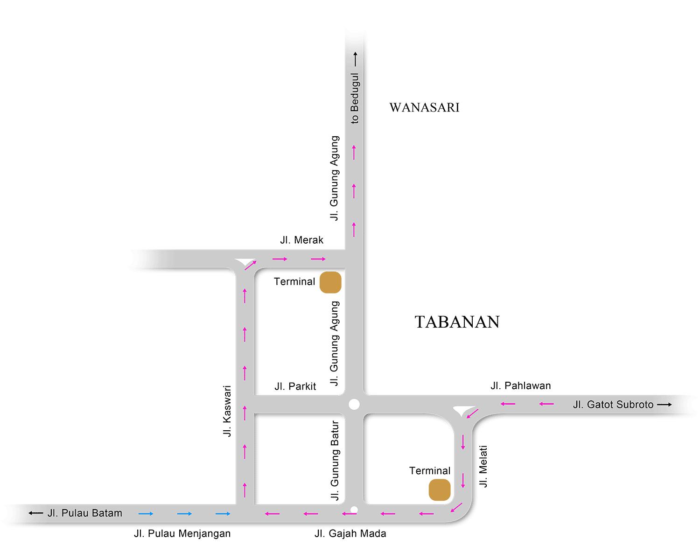 Tabanan city map