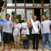 Bali Silent Retreat Housekeeping, Garuk, Arik, Martin, Putu, Ella, Agus