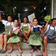 Bali Silent Retreat Kitchen - mama, dayu, kadek