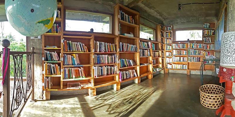 Bali Silent Retreat - Library
