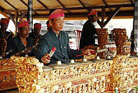 Gamelan, the brass vibrational music which seems to be deposited into the very marrow of the bones of the Balinese people.