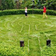 Labyrinth walking meditation