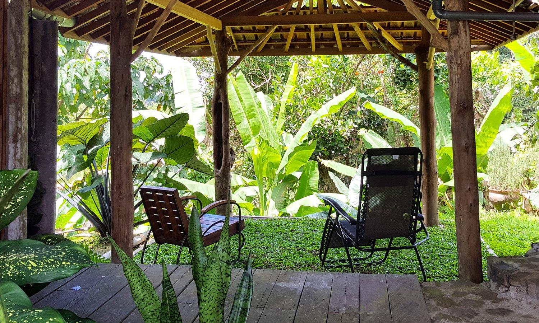Bungalow outside veranda