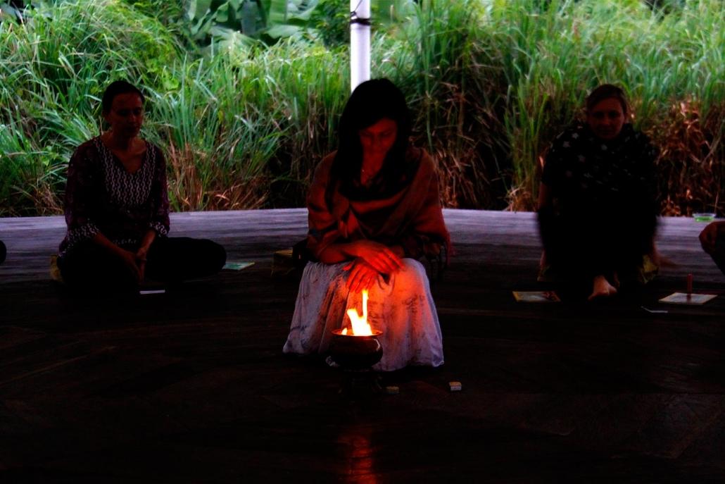 Agnihotra fire ceremony