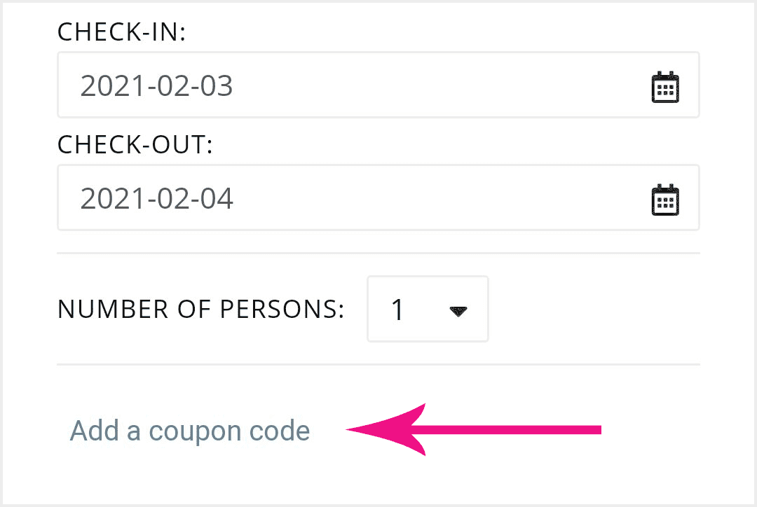 Add a coupon code